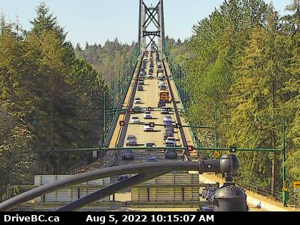 Lions Gate Bridge Highway Cam Live Image