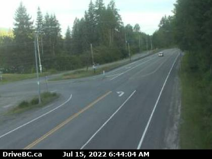 BC Highway 18 Traffic Web Cam Vancouver Island Travel