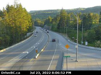 Malahat Drive at Shawnigan Lake Road looking South